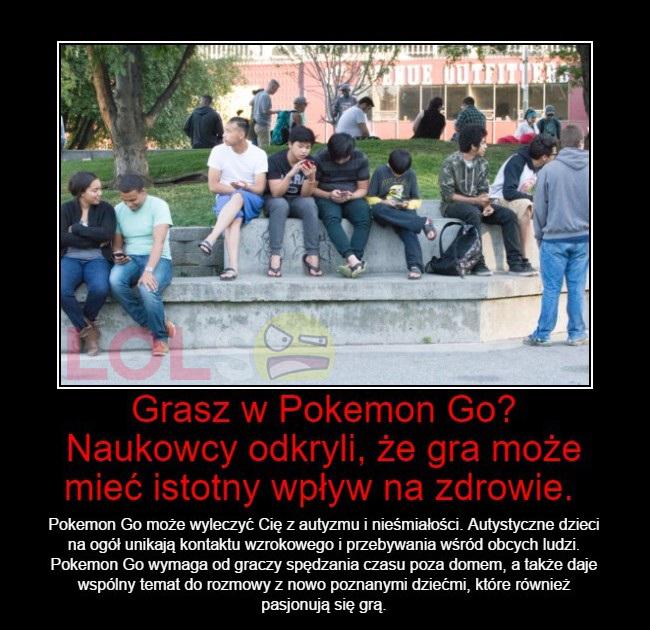 Grasz w Pokemon Go